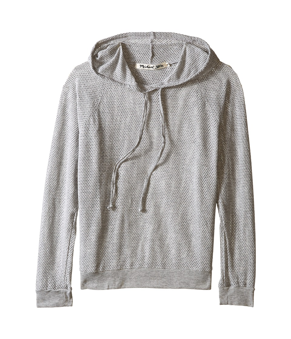 Michael Stars - Long Sleeve Mesh Hoodie (Heather Grey) Women's Sweatshirt