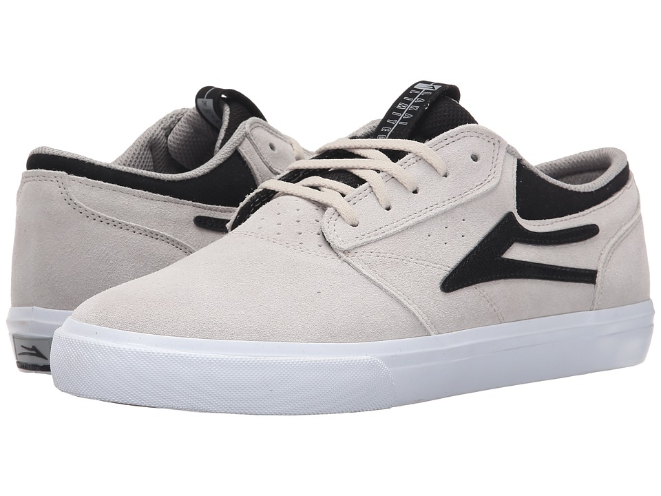 Lakai - Griffin (White/Black Suede) Men's Skate Shoes