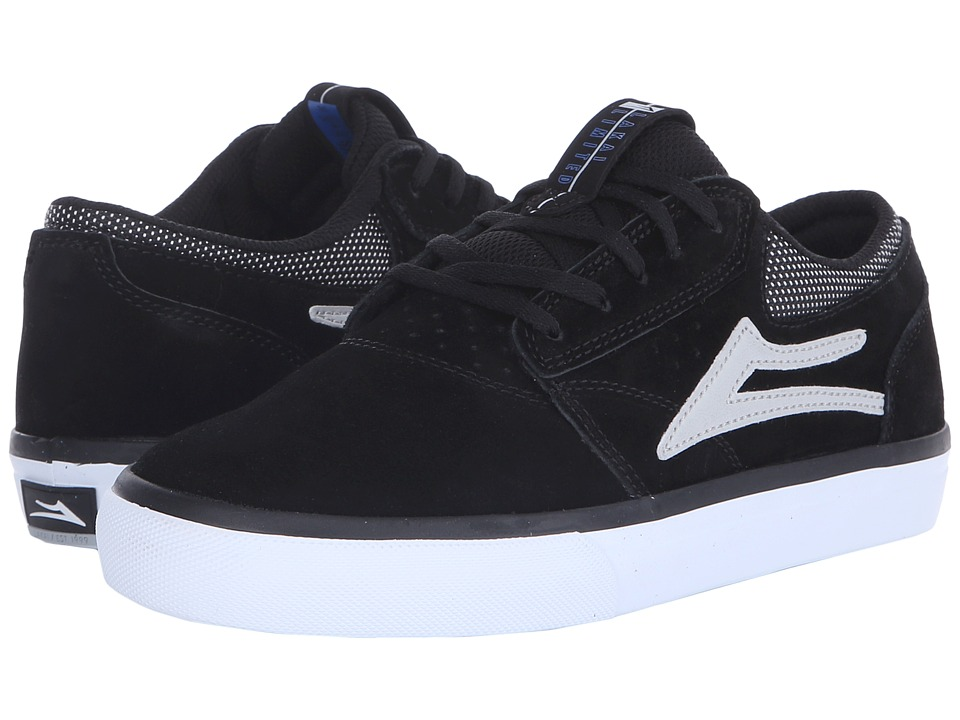 Lakai - Griffin (Black/Grey Suede) Men's Skate Shoes