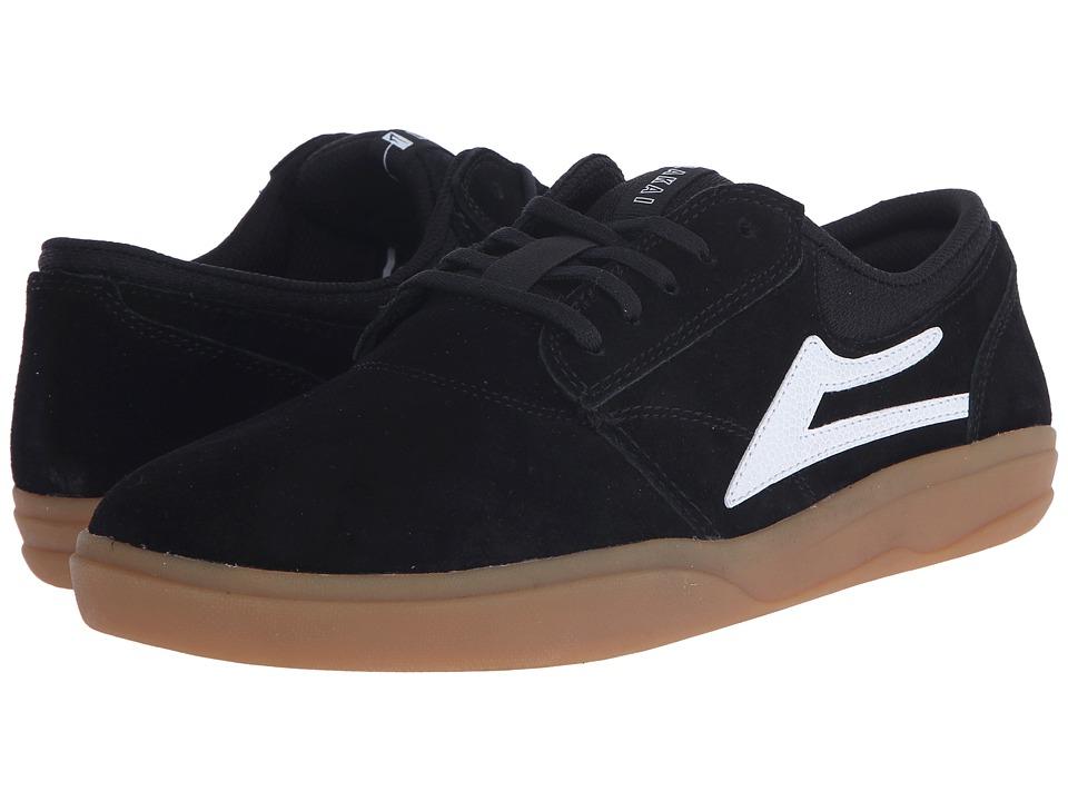 Lakai - Griffin XLK (Black/Gum Suede) Men's Skate Shoes