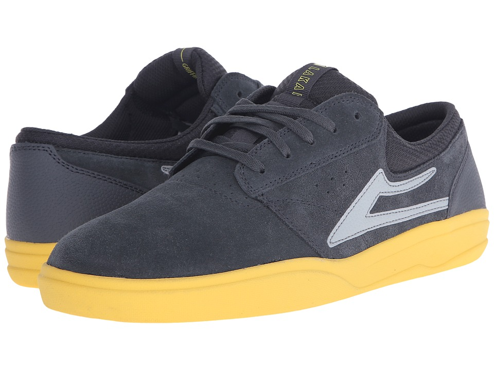 Lakai - Griffin XLK (Grey/Yellow Suede) Men