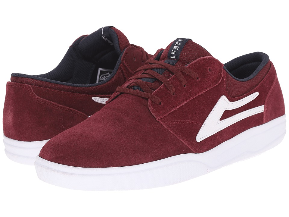 Lakai - Griffin XLK (Burgundy Suede) Men's Skate Shoes
