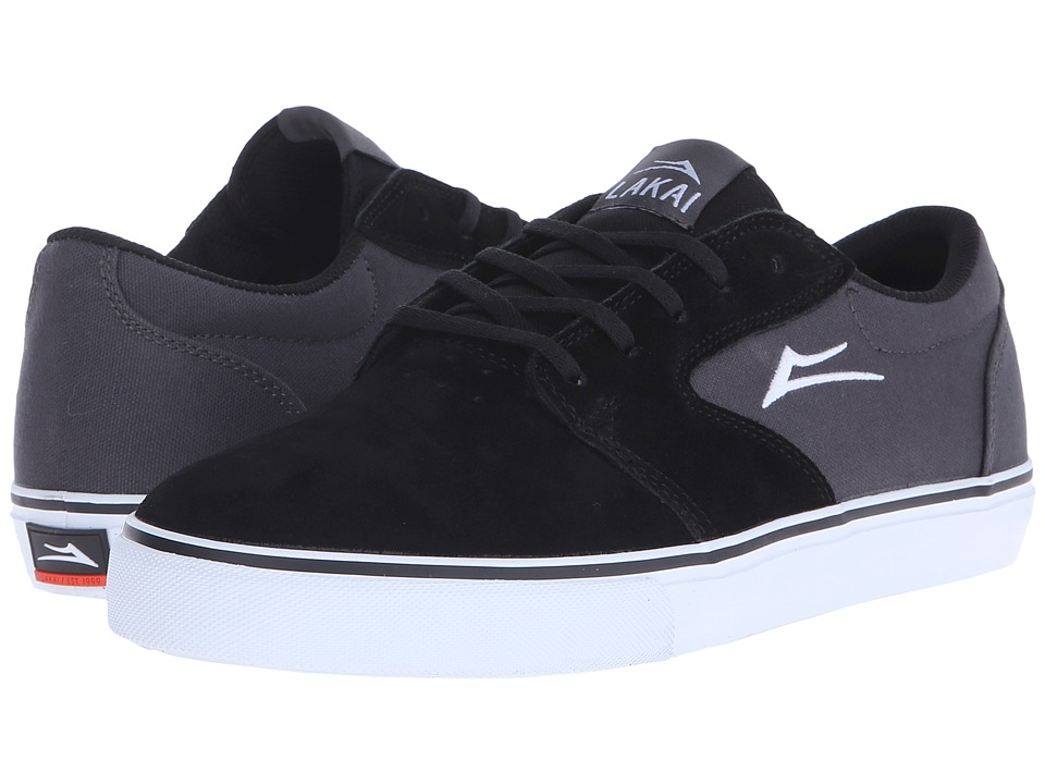 Lakai - Fura (Black/Grey Suede 1) Men's Skate Shoes