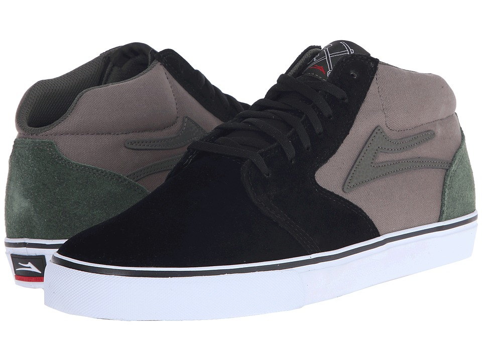 Lakai - Fura High (Black/Walnut Suede) Men's Skate Shoes