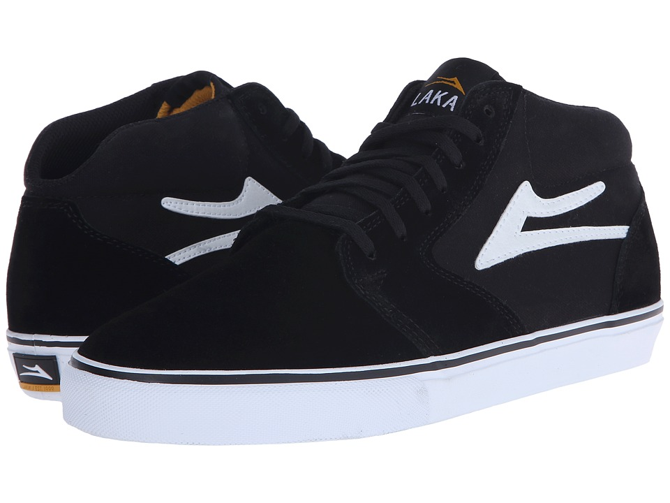 Lakai - Fura High (Black/White Suede) Men's Skate Shoes