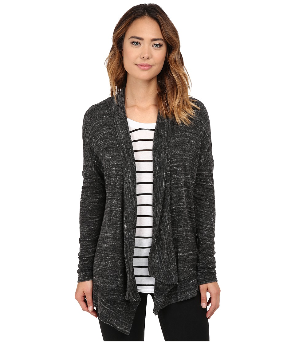 Michael Stars - Sweater Knit Long Sleeve Open Front Cardigan (Black) Women's Sweater