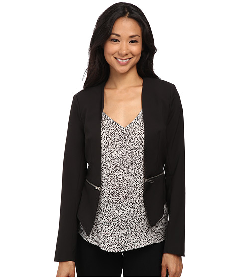 Brigitte Bailey - Roxanne Zip Bottom Blazer (Black) Women's Jacket