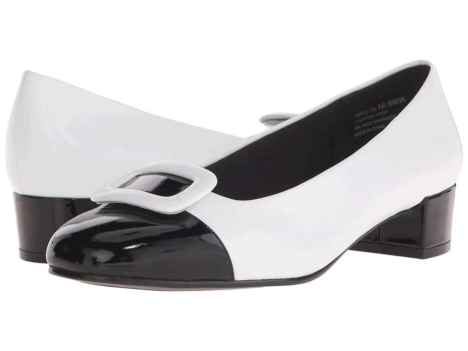 David Tate - Retro (White Leather) Women's 1-2 inch heel Shoes