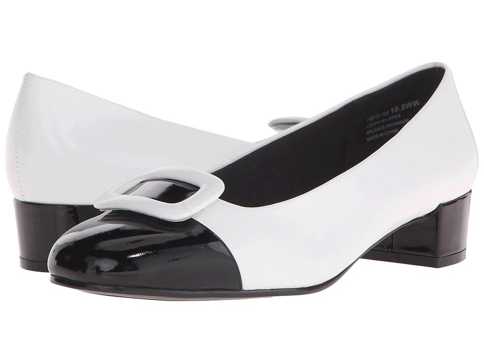 David Tate - Retro (White Leather) Women's 1-2 inch heel Shoes plus size,  plus size fashion plus size appare