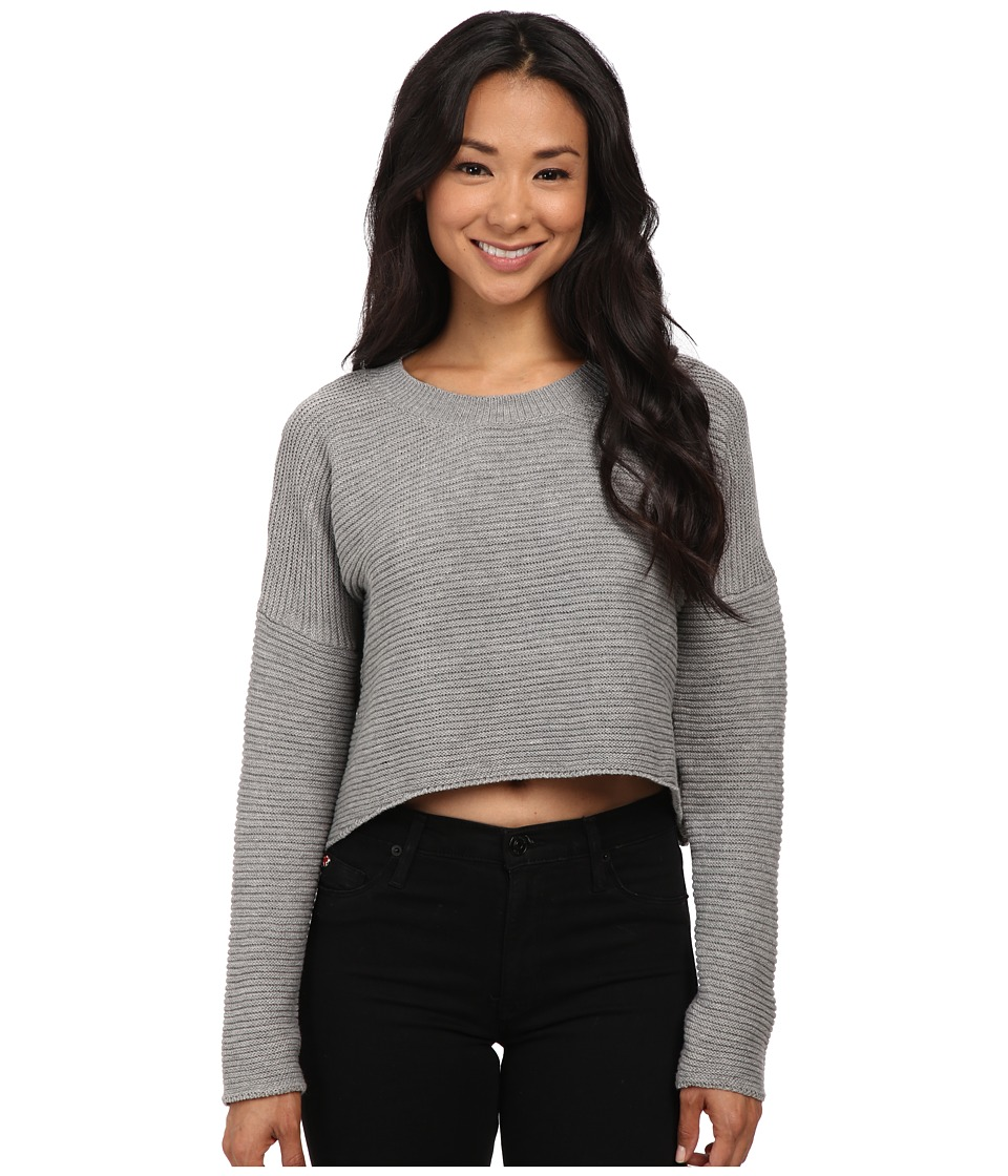 Gabriella Rocha - Ann Ribbed Crop Sweater (Grey) Women's Sweater