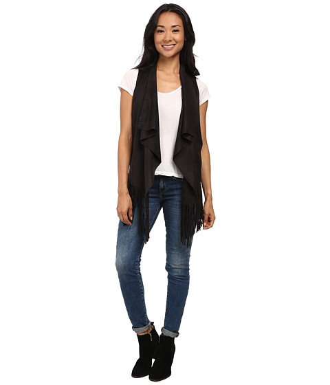 Gabriella Rocha - Daisy Fringe Vest (Black) Women's Vest