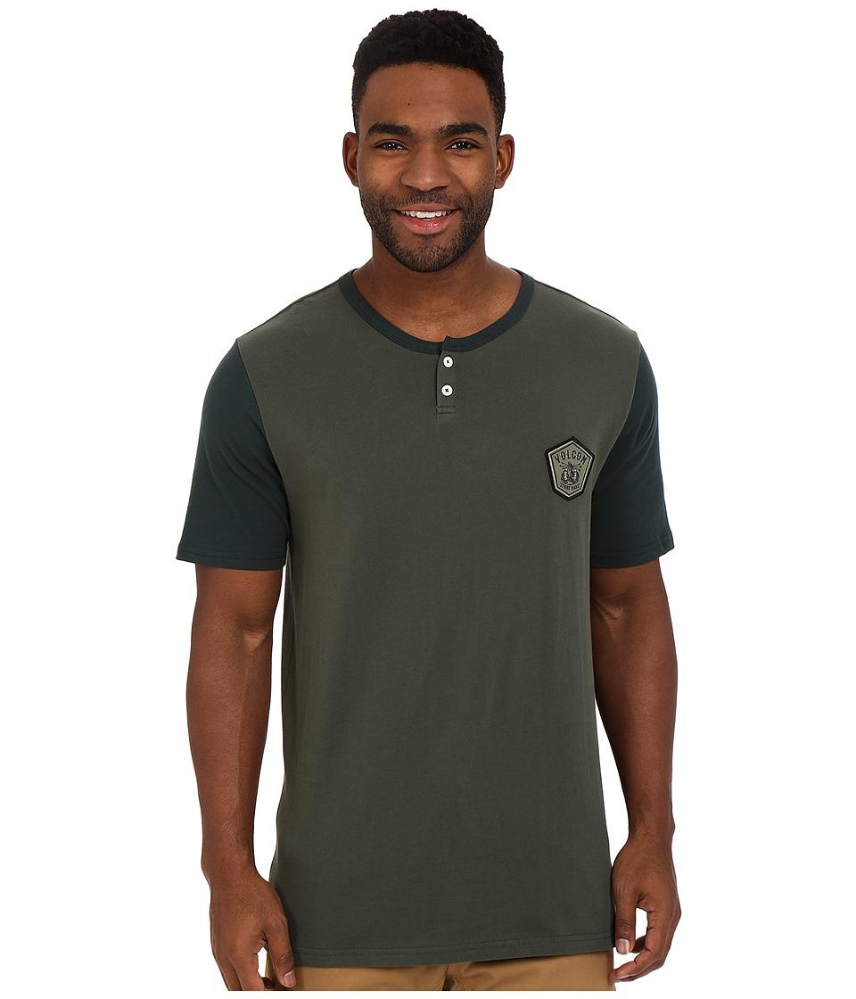 Volcom - Brewster Henley Short Sleeve (Old Blackboard) Men's Short Sleeve Knit