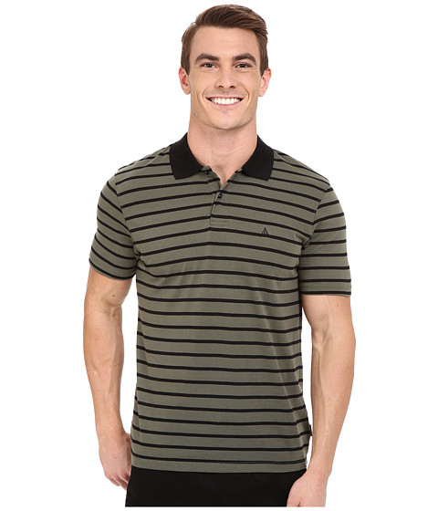 Volcom - Wowzer Stripe Polo (Old Blackboard) Men