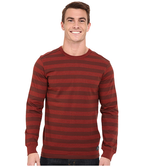 Volcom - Roy Crew Long Sleeve (Brick) Men's Long Sleeve Pullover