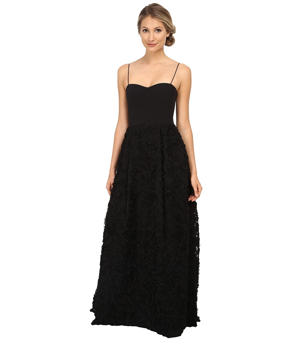 Aidan Mattox - Rosette Ballgown (Black) Women's Dress