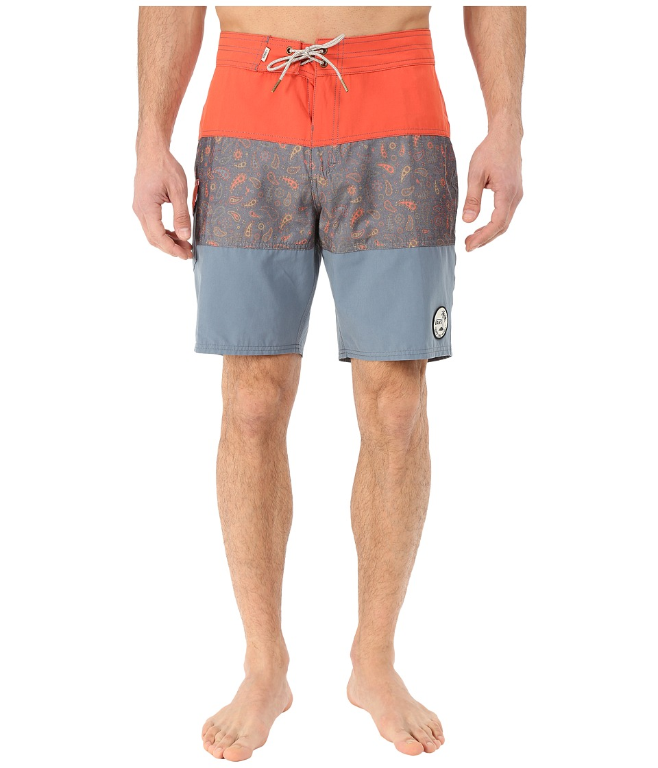Vans - Psych Panel Boardshorts (Paprika) Men's Swimwear