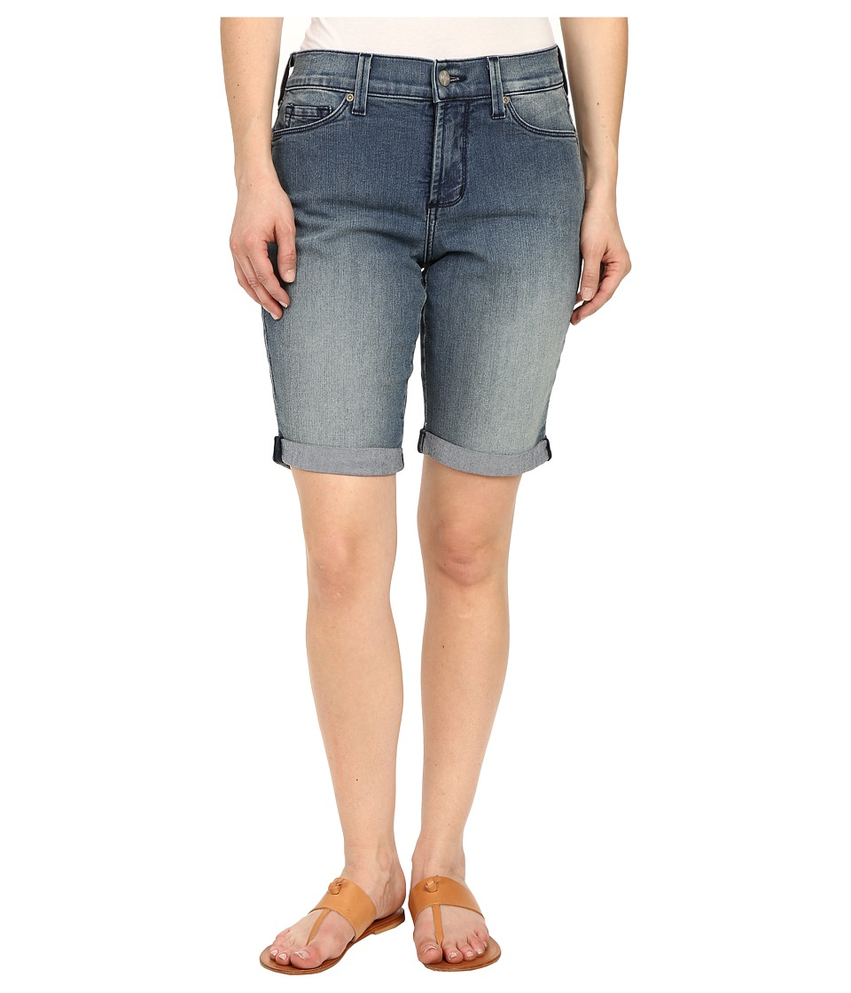 NYDJ Petite - Petite Briella Roll Cuff Shorts (Karval Wash) Women's Shorts