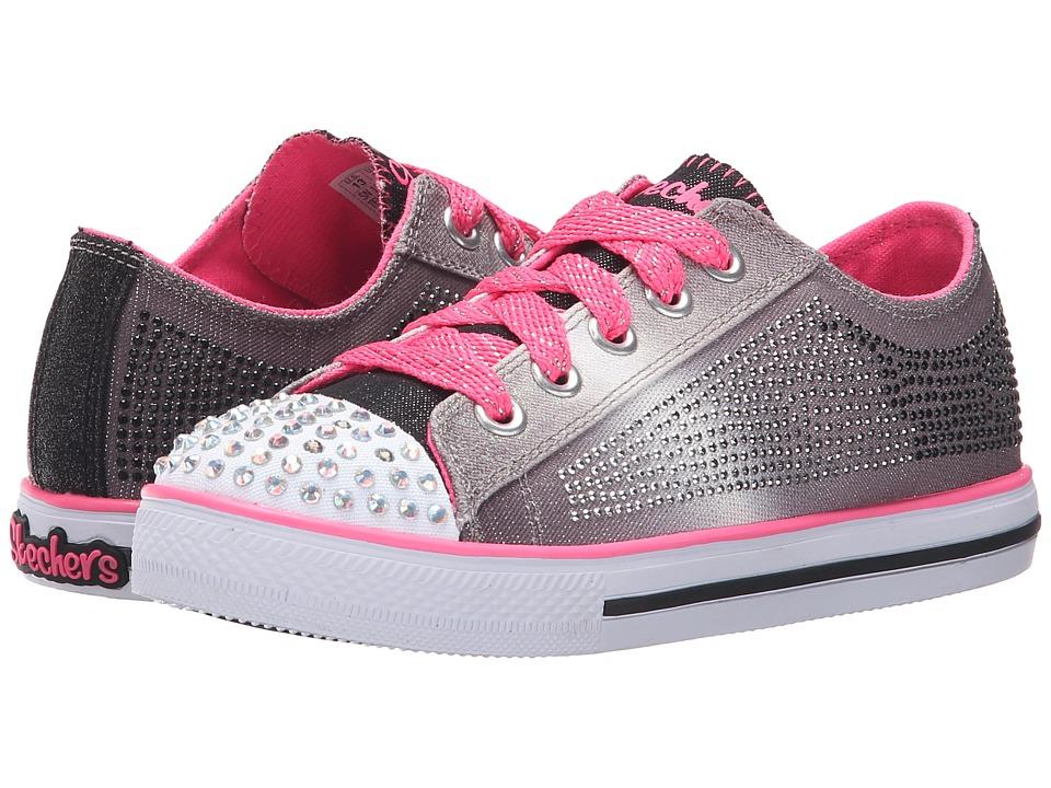 SKECHERS KIDS - Electro Spark 10574L Lights (Little Kid/Big Kid) (Black/Neon Pink) Girls Shoes