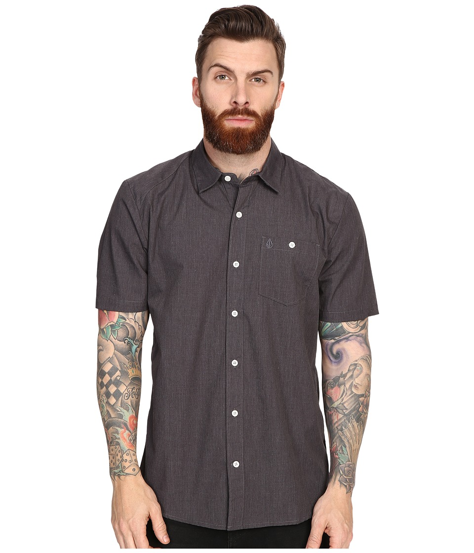 Volcom - Everett Solid Shirt (Charcoal) Men