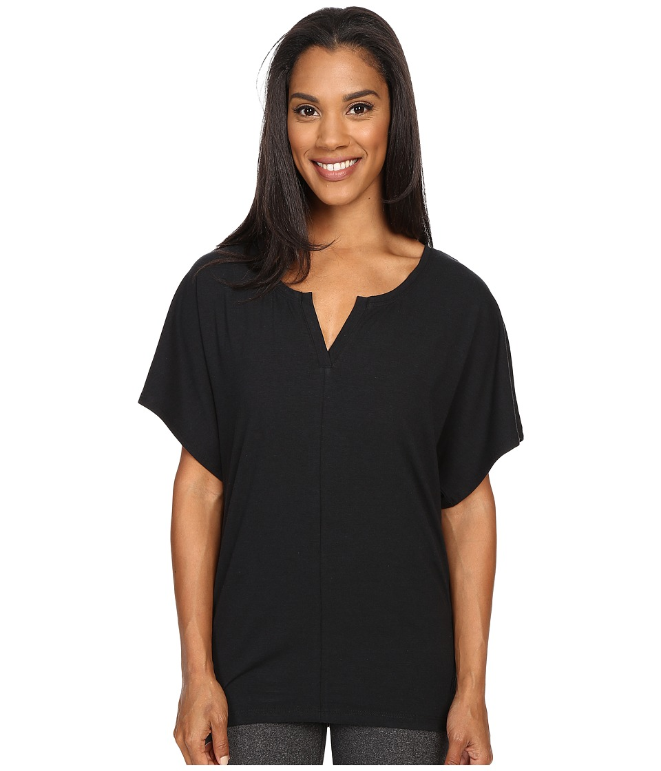FIG Clothing - Vib Top (Black) Women's Short Sleeve Pullover