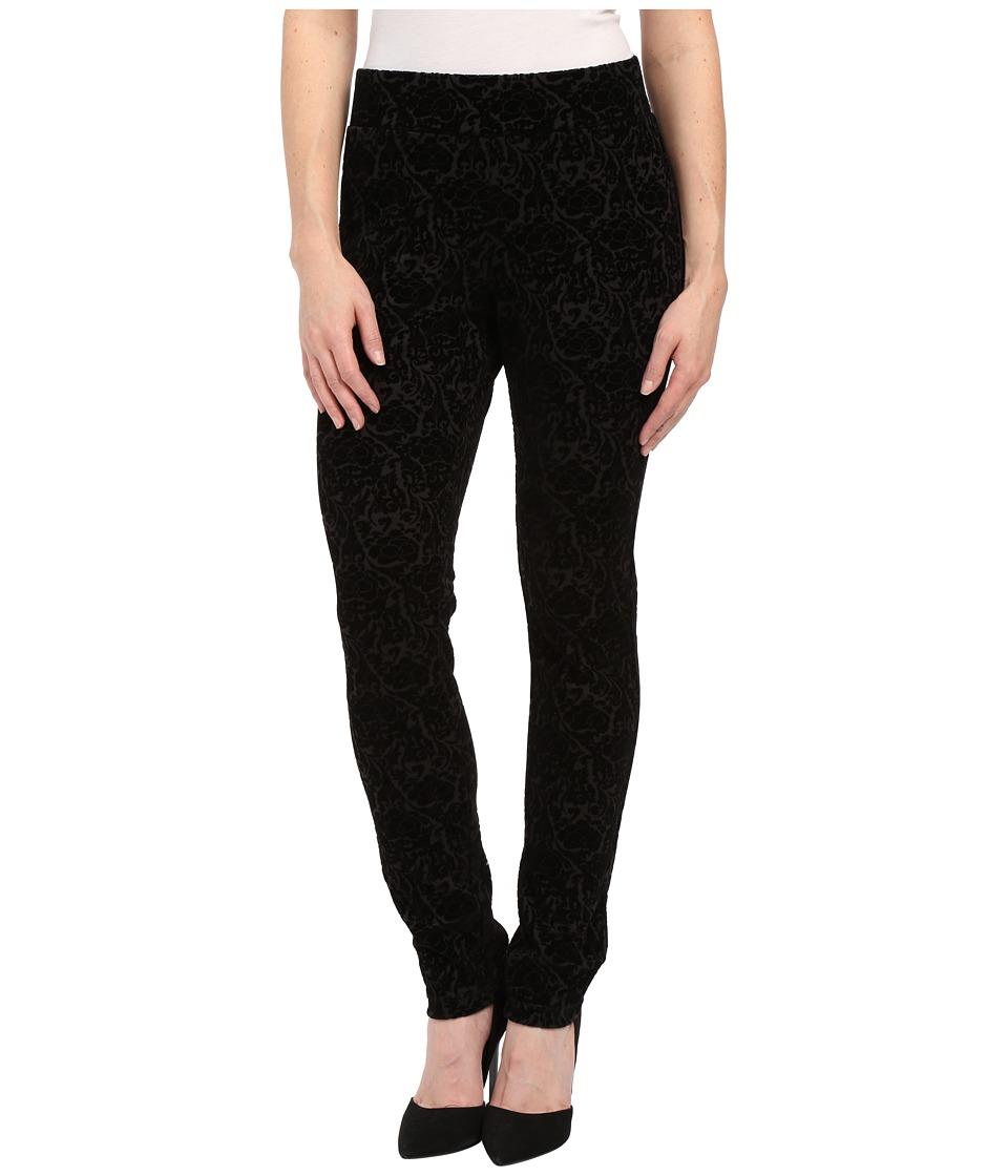 NYDJ Petite Petite Joanie Skinny Pull On Leggings (Black Primrose Flocking) Women