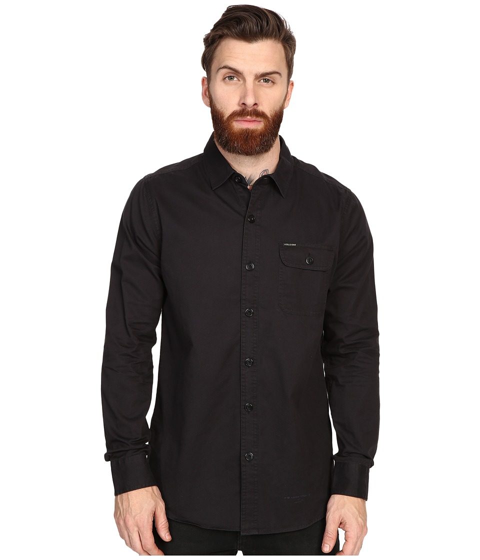 Volcom - Donald Long Sleeve (Black) Men's Clothing