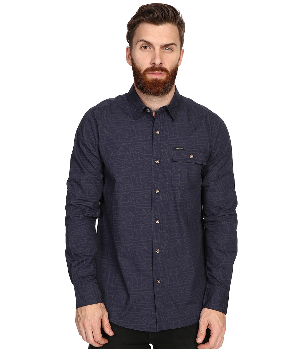 Volcom - Lined Long Sleeve (Navy) Men