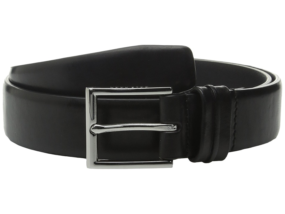 Cole Haan - 32mm Burnished Leather Harness Buckle Belt (Black) Men's Belts