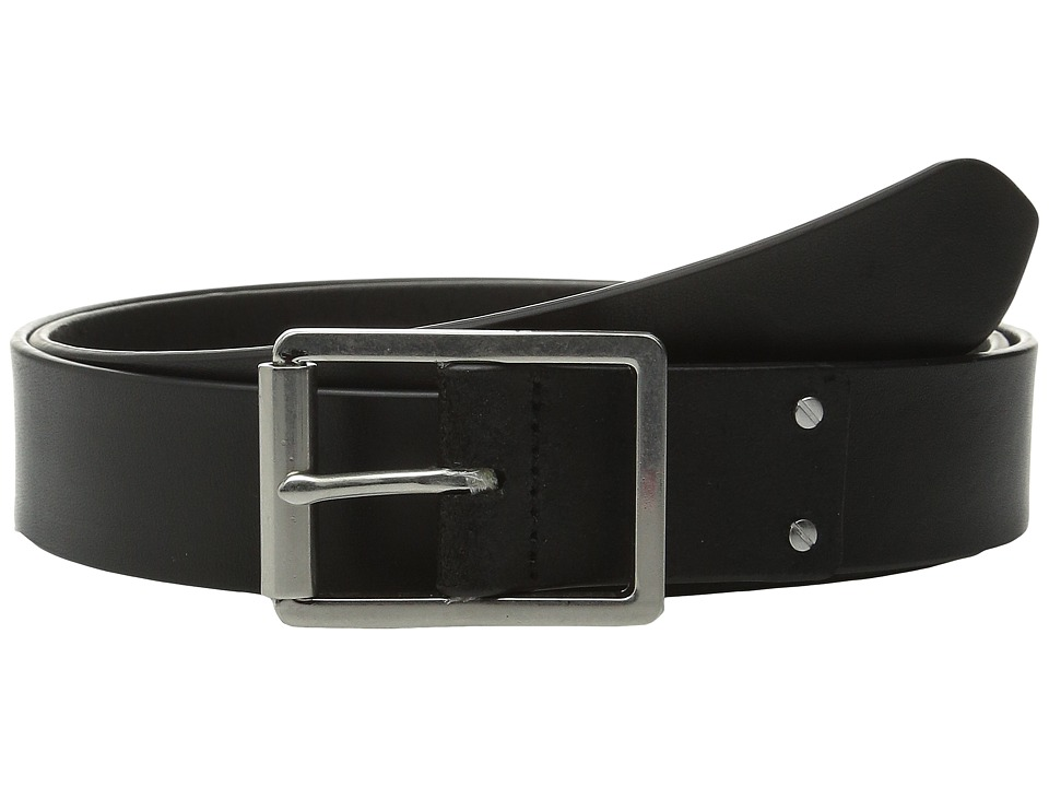 Cole Haan - 35mm Smooth Leather Belt with Center Bar Buckle (Black) Men's Belts