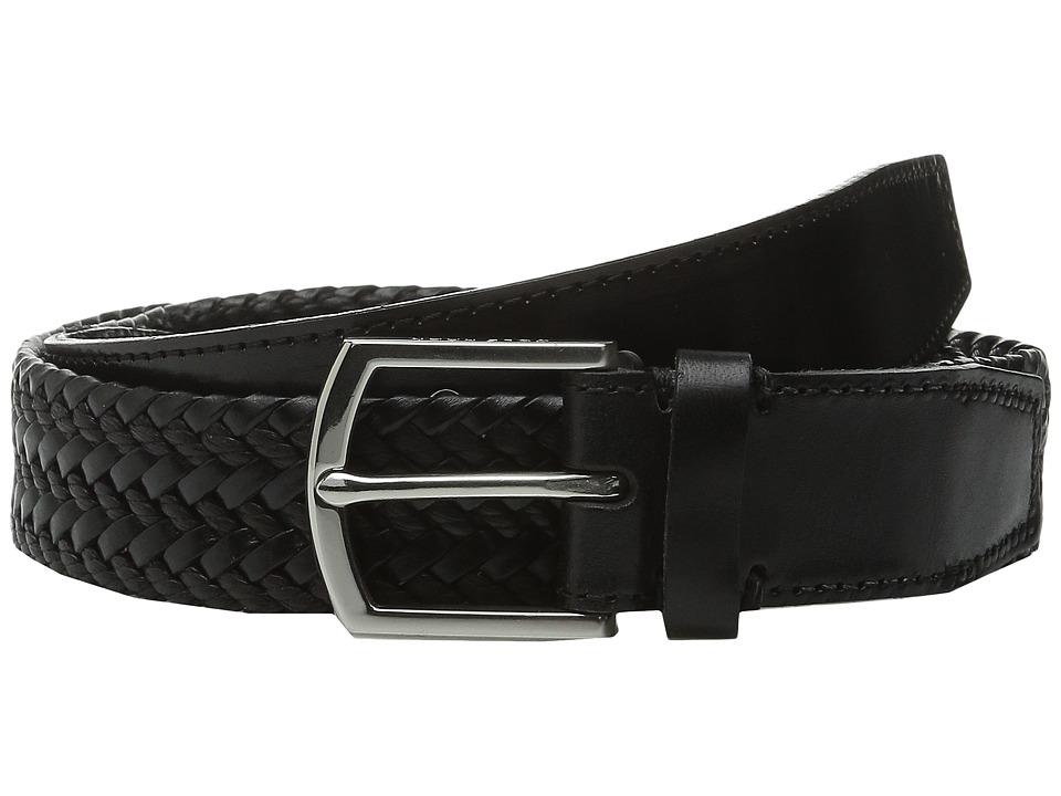 Cole Haan - 32mm Braided Belt with Harness Buckle (Black) Men's Belts