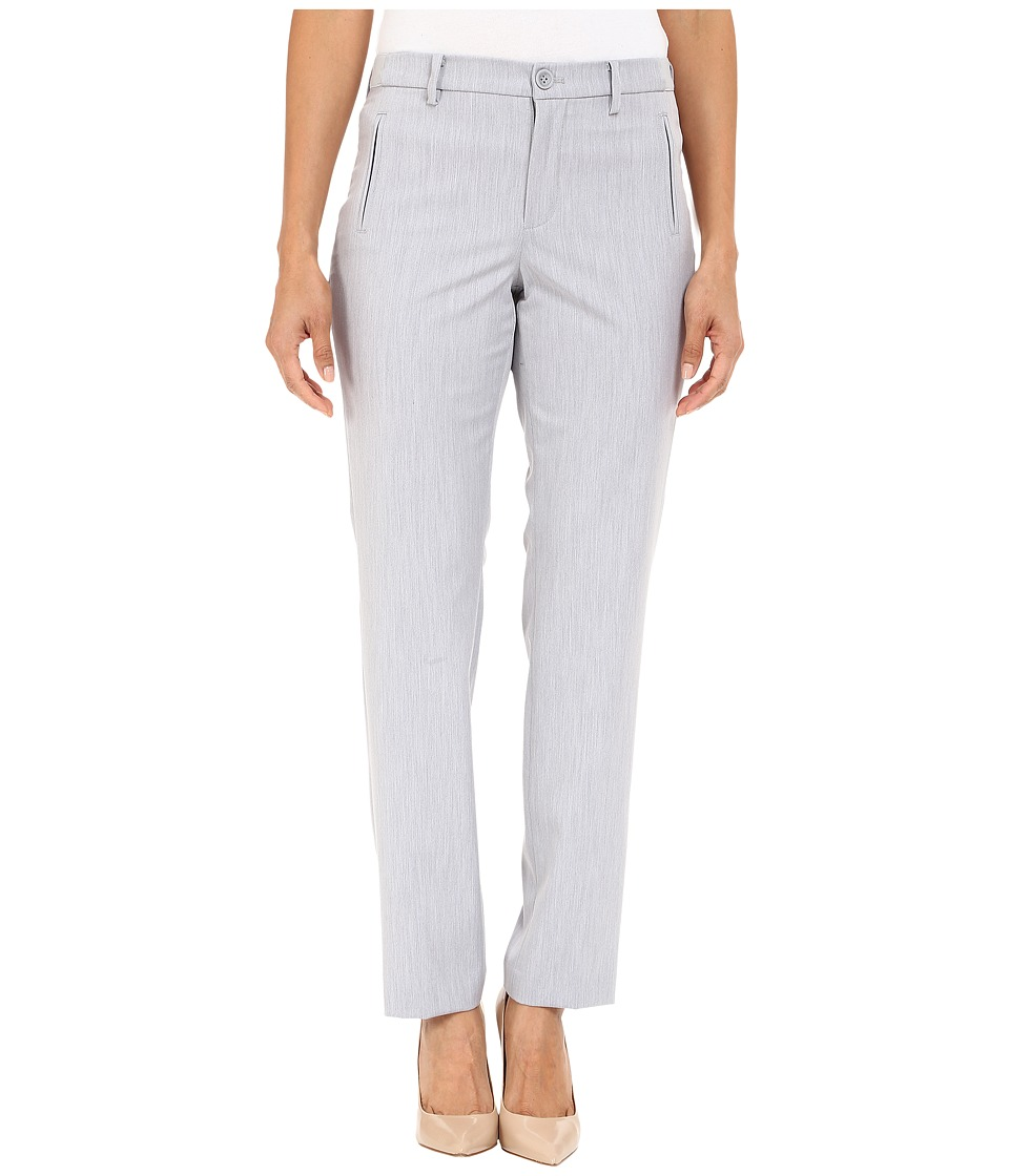 NYDJ Petite - Petite Sandrah Slim Trousers (Pearl Grey) Women's Casual Pants