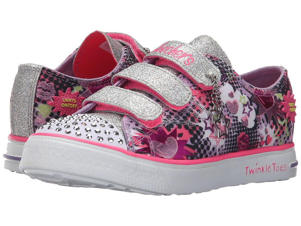 SKECHERS KIDS - Twinkle Breeze 10608L Lights (Little Kid/Big Kid) (Lavendar/Multi) Girls Shoes