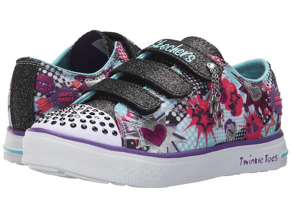 SKECHERS KIDS - Twinkle Breeze 10608L Lights (Little Kid/Big Kid) (Turquoise/Multi/Black) Girls Shoes