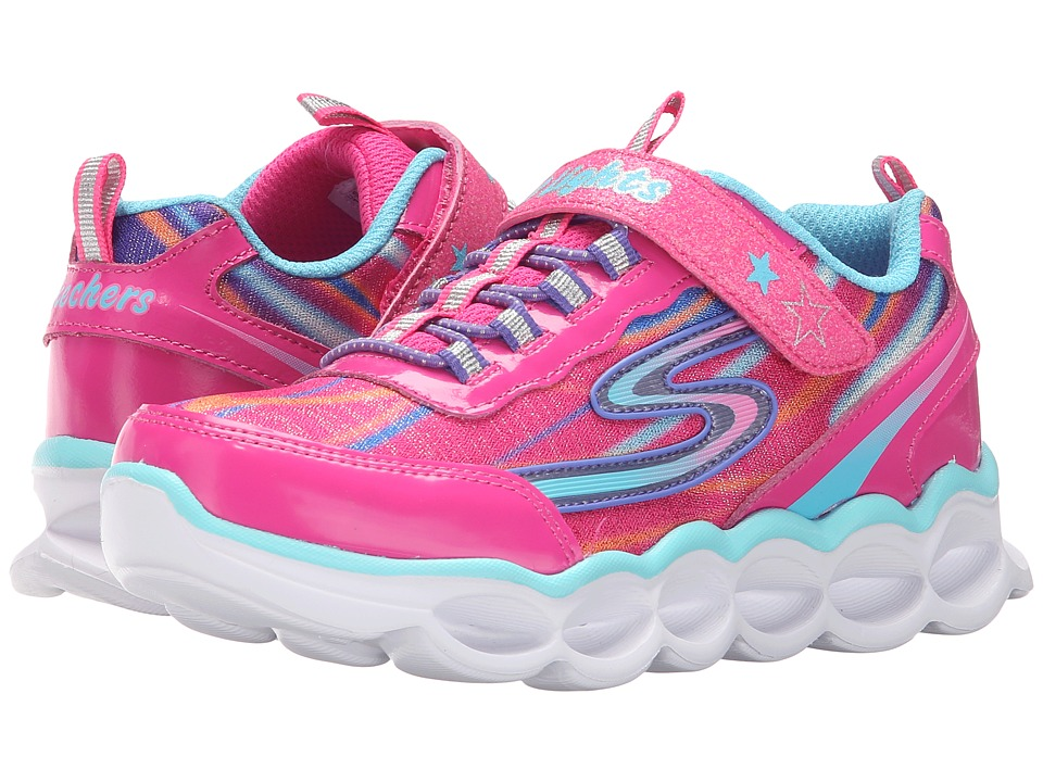 SKECHERS KIDS - Lumos 10613L Lights (Little Kid) (Hot Pink/Multi) Girls Shoes