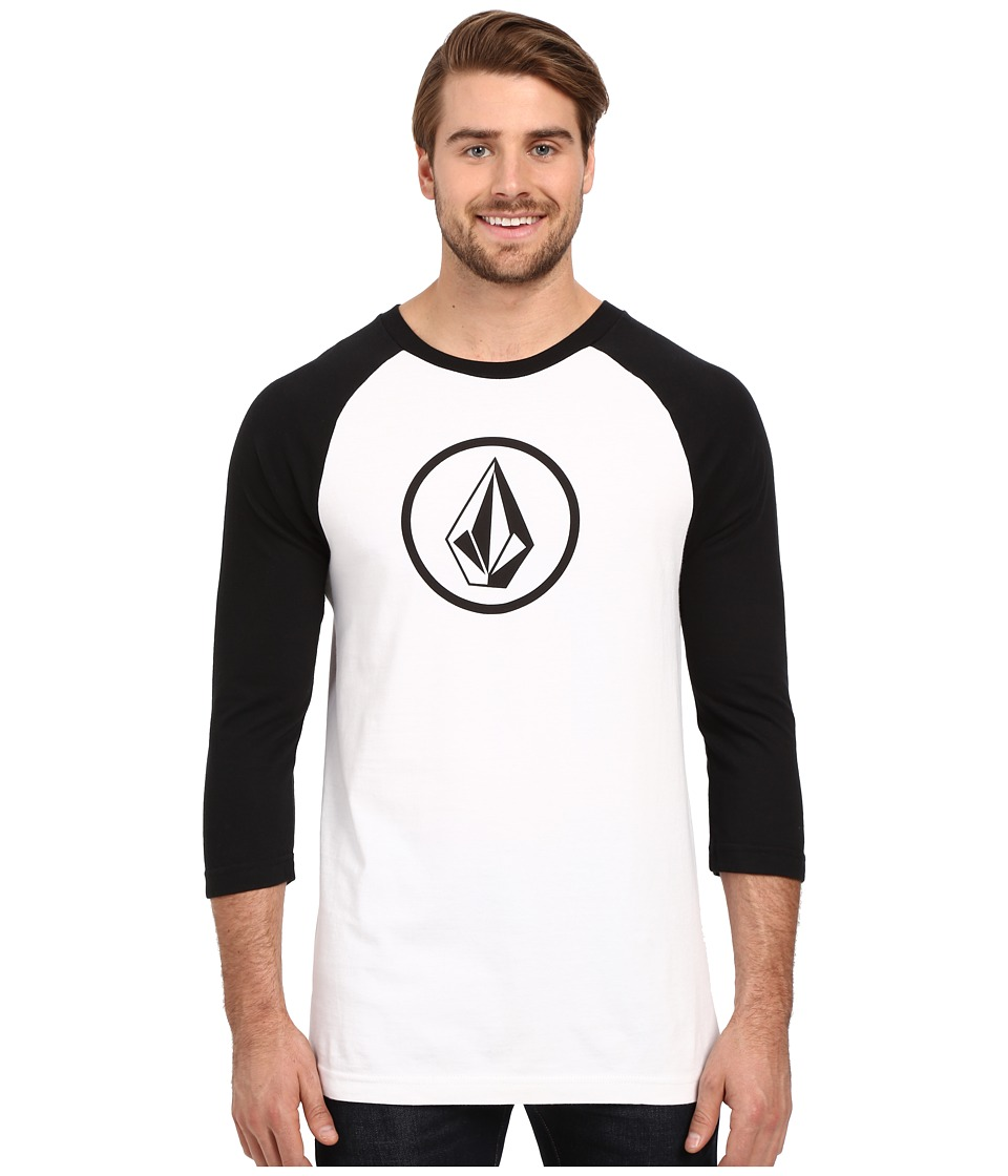 Volcom - New Circle Raglan Tee (White) Men's T Shirt