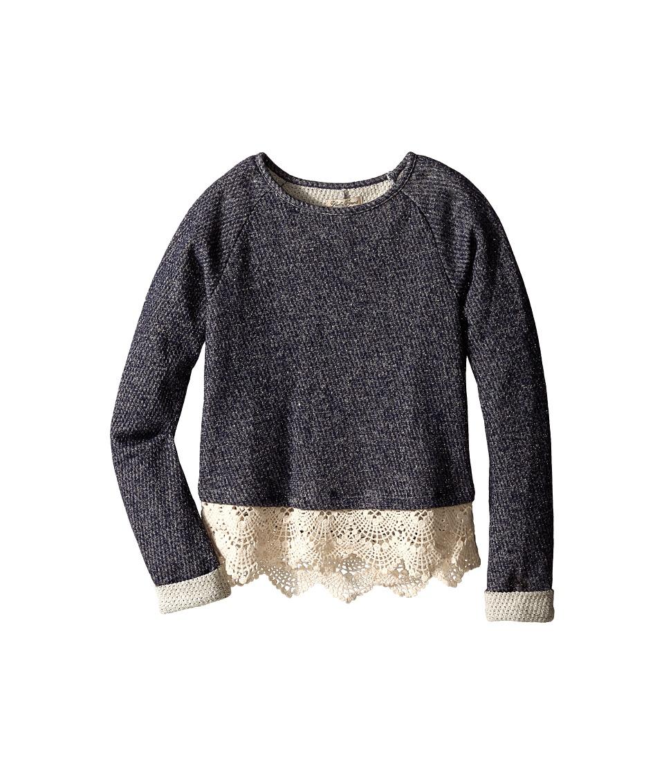 Lucky Brand Kids - Nisha Popover (Big Kids) (Peacoat) Girl's T Shirt