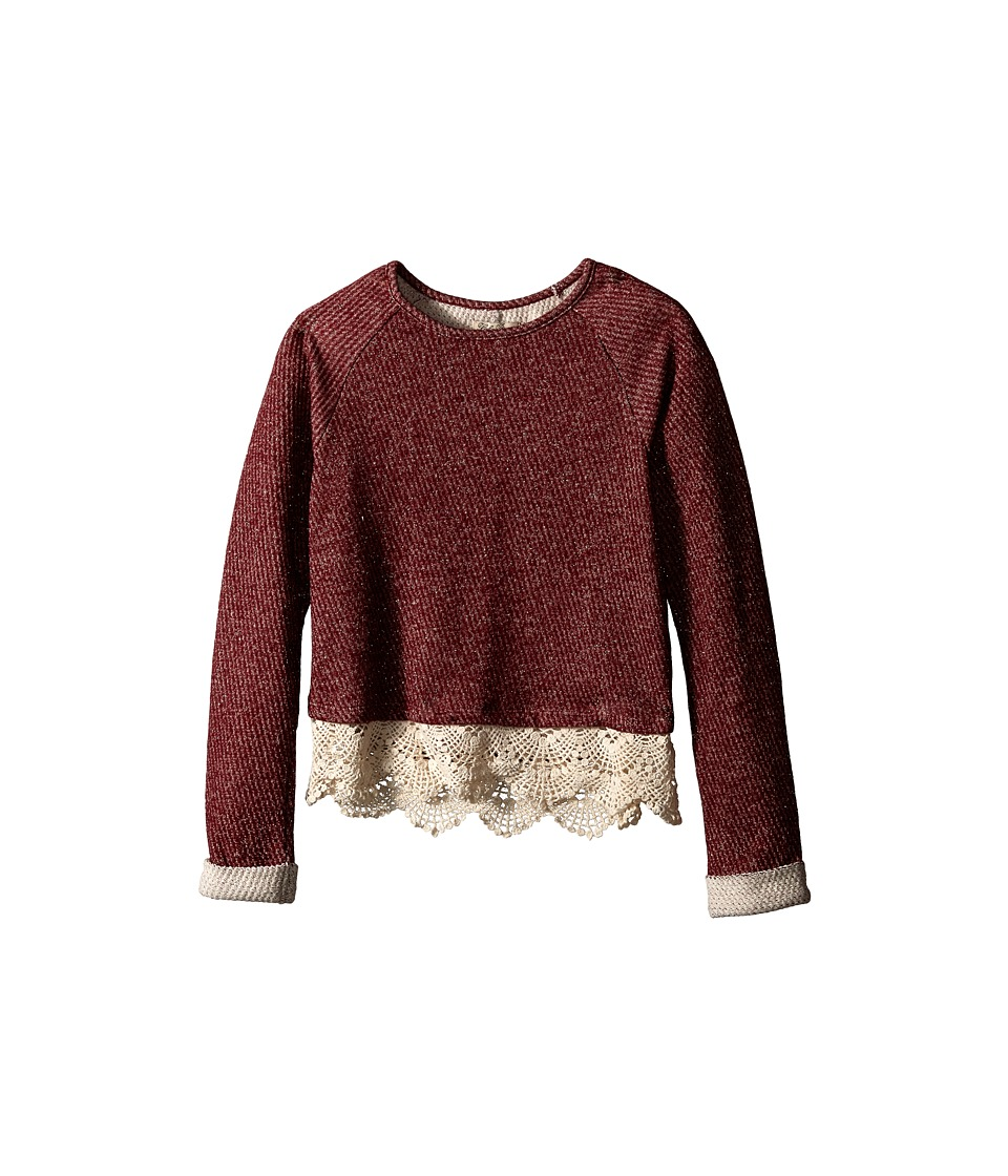 Lucky Brand Kids - Nisha Popover (Big Kids) (Cranberry Crush) Girl's T Shirt