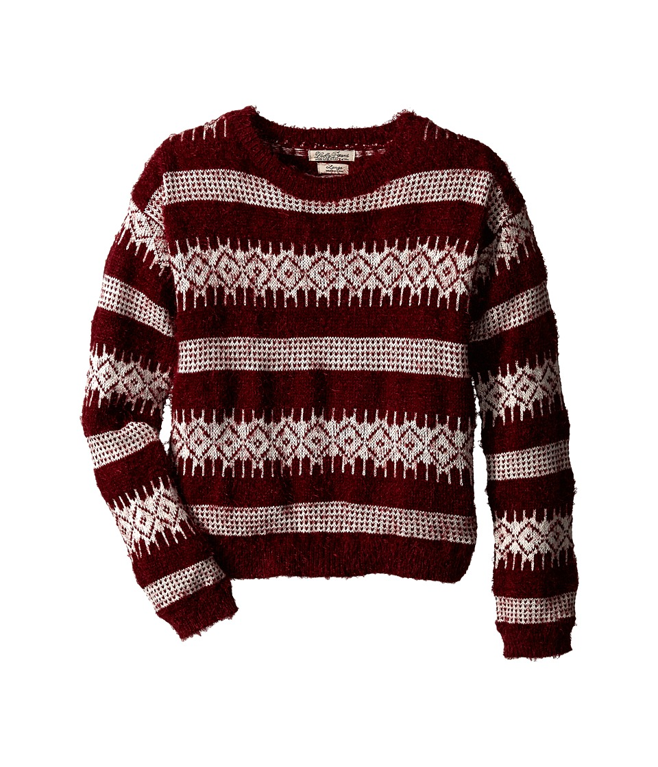 Lucky Brand Kids - More Fuzz Sweater (Big Kids) (Cranberry Crush) Girl's Sweater