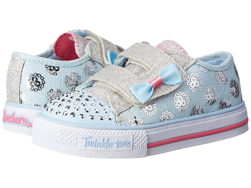 SKECHERS KIDS - Twinkle Toes - Shuffles 10614N Lights (Toddler/Little Kid) (Light Blue) Girls Shoes
