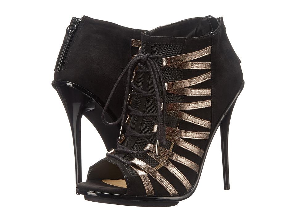 GX By Gwen Stefani Olly Pewter-Black Metallic Matte-Mesh High Heels