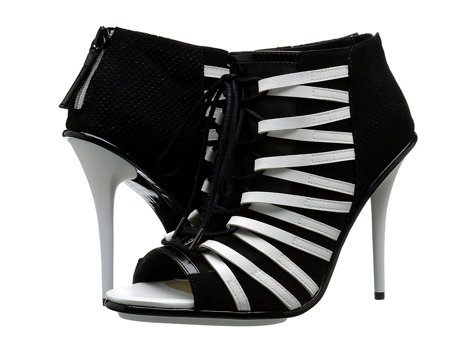 GX By Gwen Stefani - Olly (White/Black Matte/Nylon Mesh) High Heels
