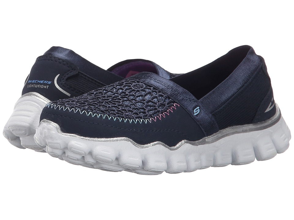 SKECHERS KIDS - Skech Flex II-Sugar Shake (Little Kid/Big Kid) (Navy) Girl's Shoes