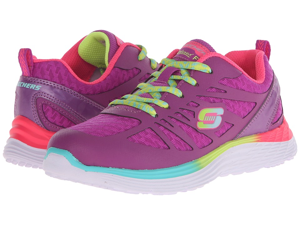 SKECHERS KIDS - Valeris - Firelite 81696L (Little Kid/Big Kid) (Purple/Multi) Girl's Shoes