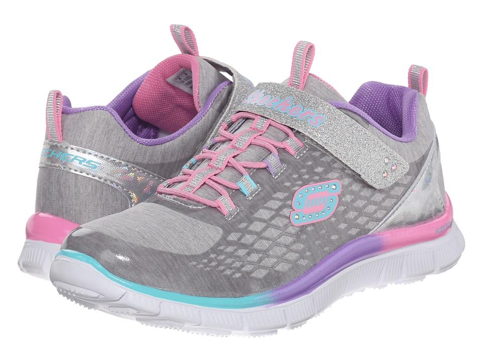SKECHERS KIDS - Skech Appeal 81853N (Toddler) (Silver/Multi) Girl's Shoes