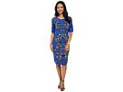 Scoop Neck Jacquard Print Dress