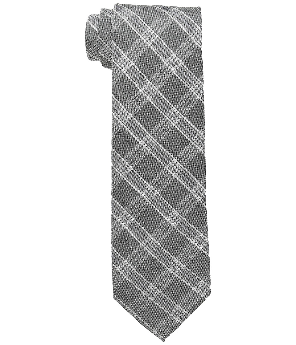 Calvin Klein - Horizon Windowpane (Black) Ties