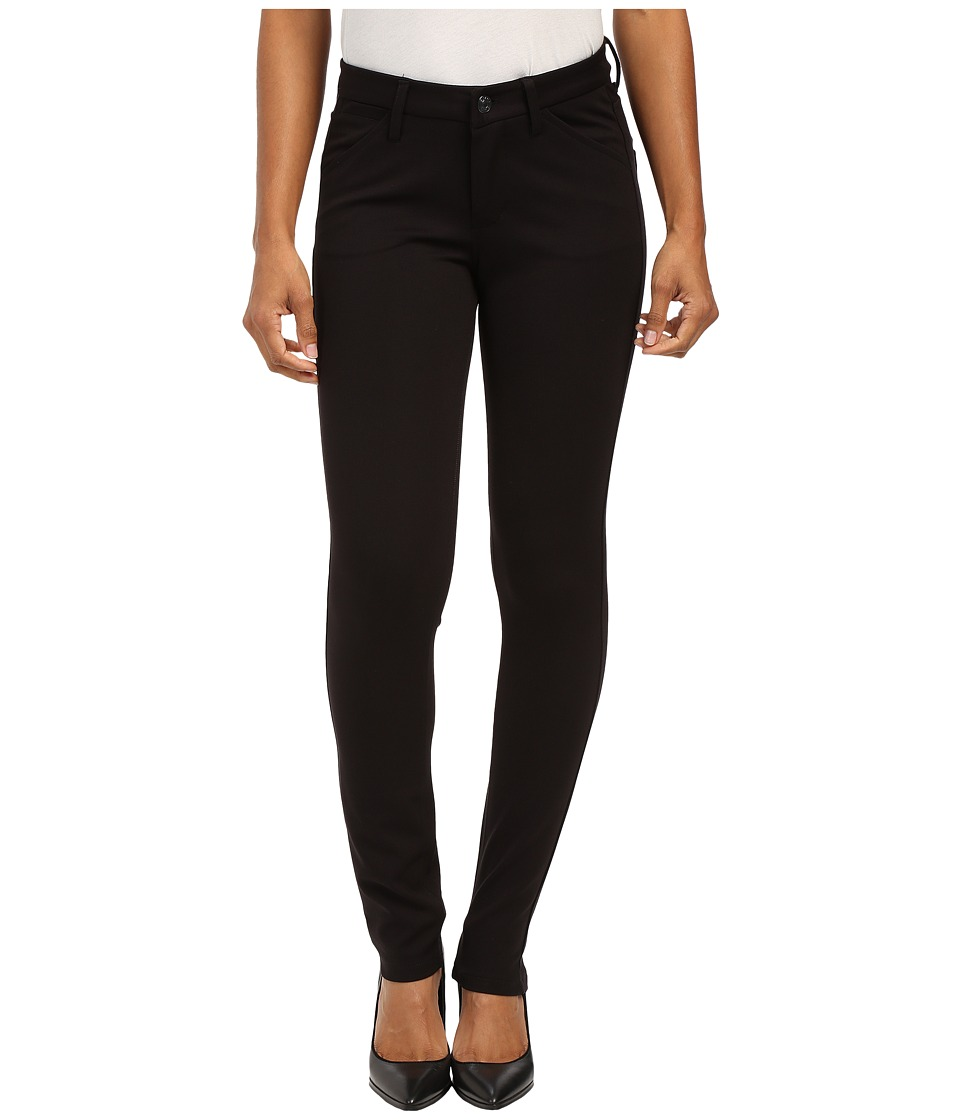 Jag Jeans Petite - Petite Rowan Slim in Double Knit Ponte (Black) Women's Jeans