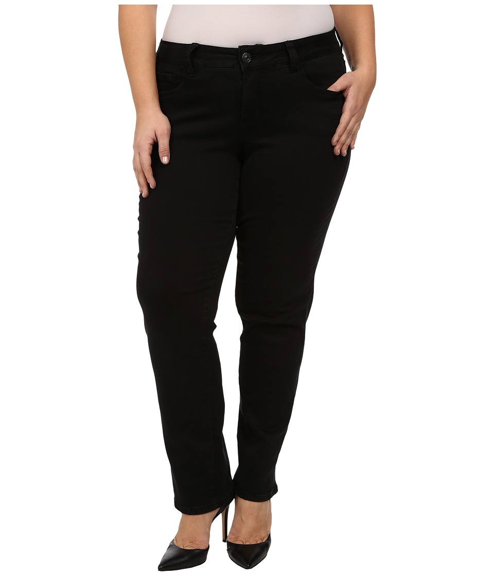 Jag Jeans Plus Size - Plus Size Patton Straight in Black Republic Denim (Black) Women's Jeans plus size,  plus size fashion plus size appare