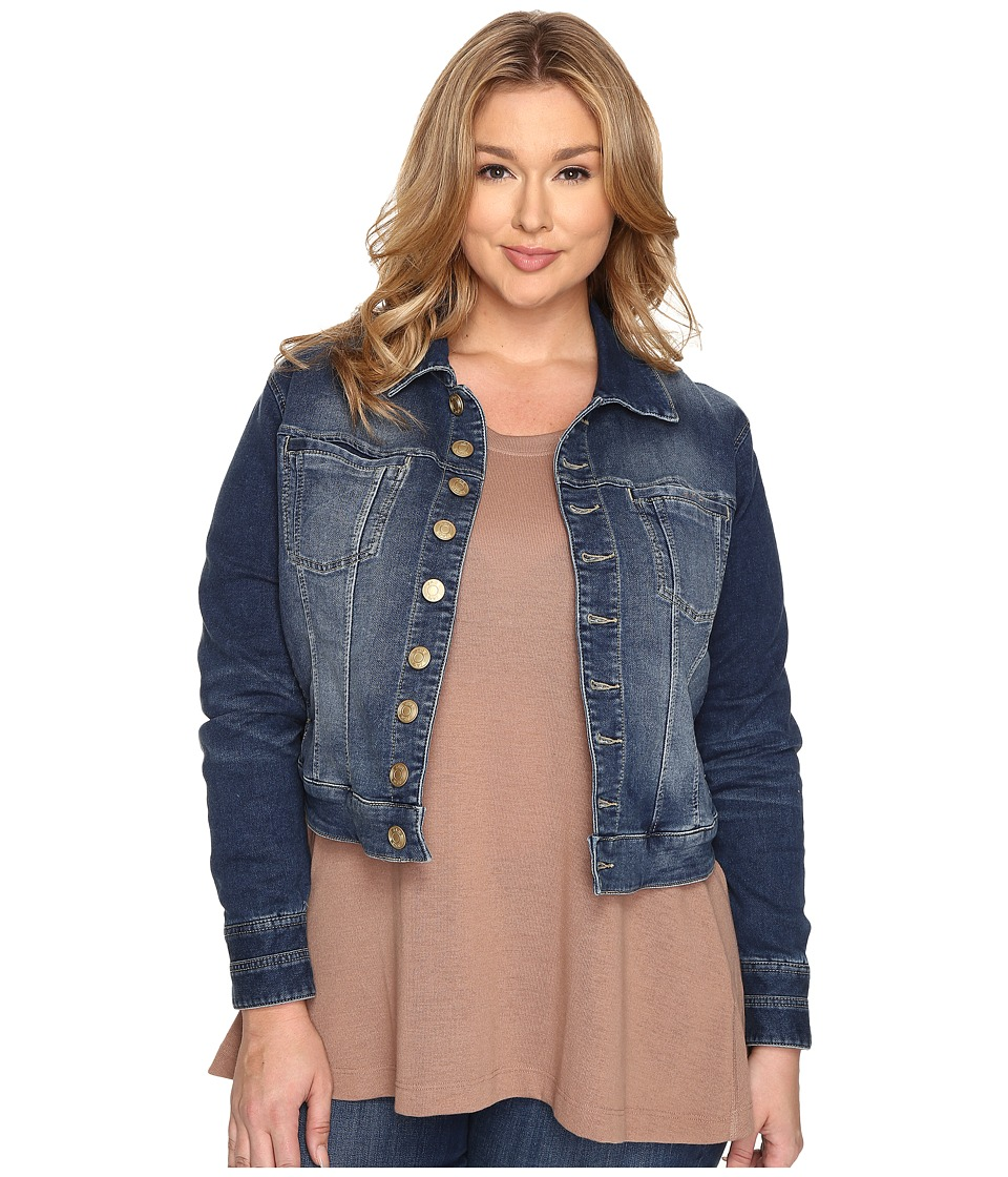 Jag Jeans Plus Size - Plus Size Savannah Jacket in Forever Blue Knit Denim (Forever Blue) Women's Jacket plus size,  plus size fashion plus size appare