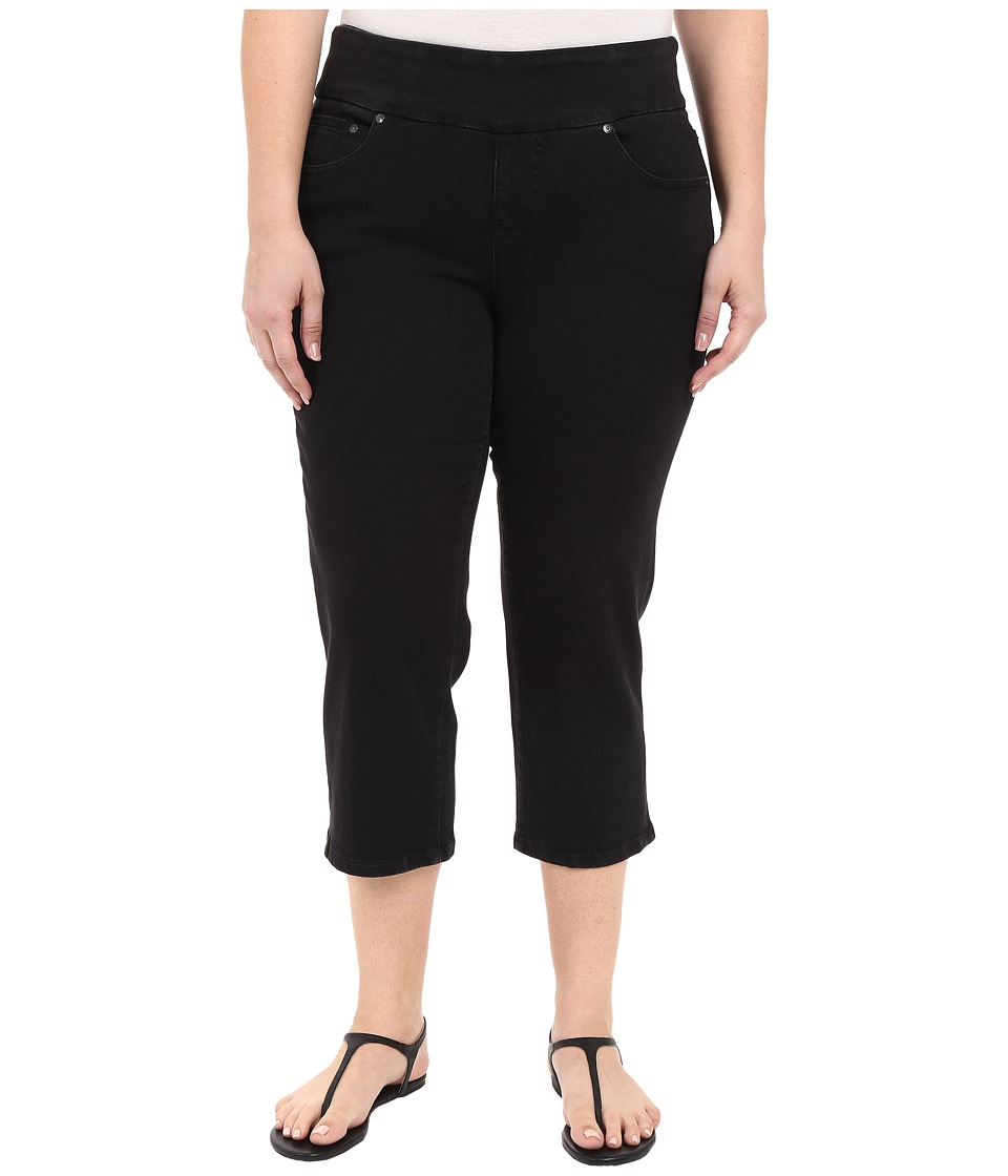 Jag Jeans Plus Size - Plus Size Echo Crop in Dolce Twill (Black) Women's Jeans plus size,  plus size fashion plus size appare
